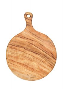 Large Pizza Cheese Wooden Anti-Bacterial Camphor Laurel Round Board by Byron Bay Chopping Boards
