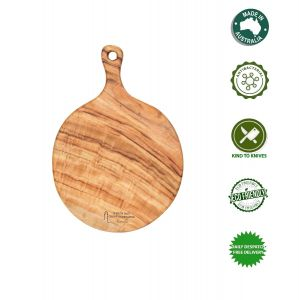 Medium Pizza Cheese Wooden Anti-Bacterial Camphor Laurel Round Board by Byron Bay Chopping Boards
